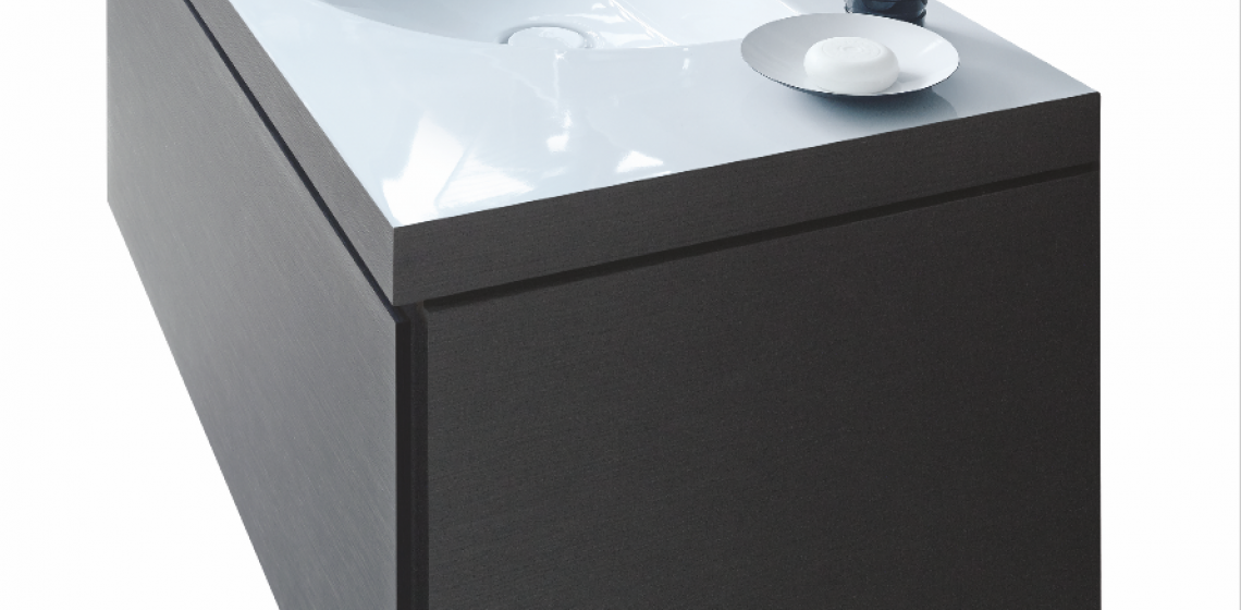 Using a DuraCeram material, the manufacturer's C-Bonded washbasins connect seamlessly to their vanity units, giving the appearance of a single piece. As a result of the technology, the material thickness of the washbasin is hidden from view. C-Bonded will be available on select furniture vanities from the Darling New collection, by Sieger Design, and the L-Cube series, by Christian Werner.