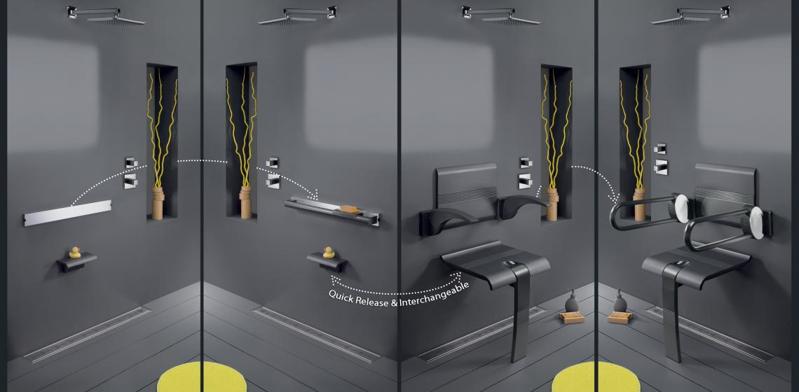 Design By Intent Innovato SwapAble Shower Furniture