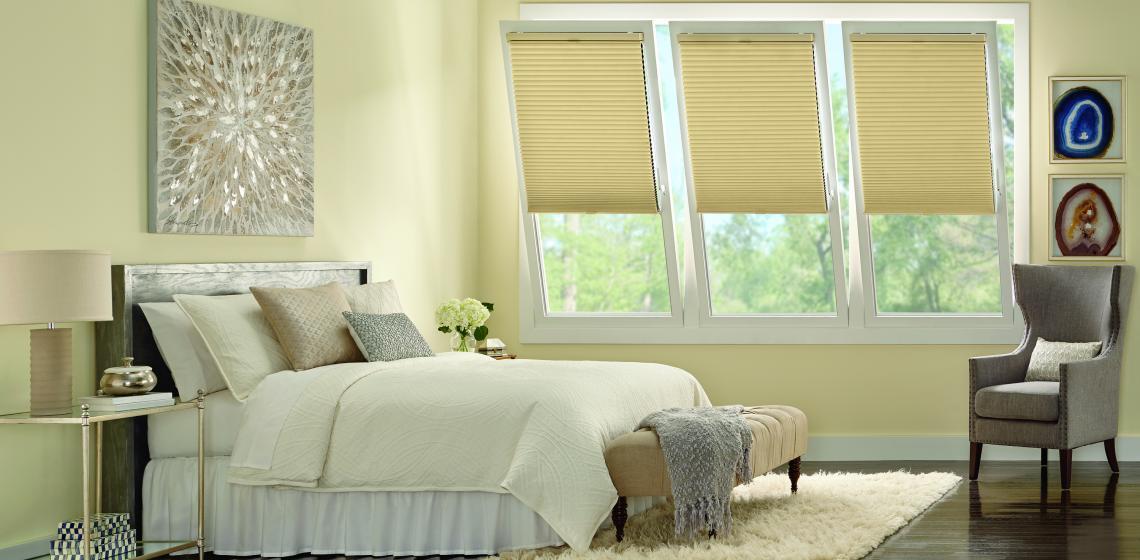 Hunter Douglass Window Treatments Duette TrackGlide LiteRise tilt-turn window