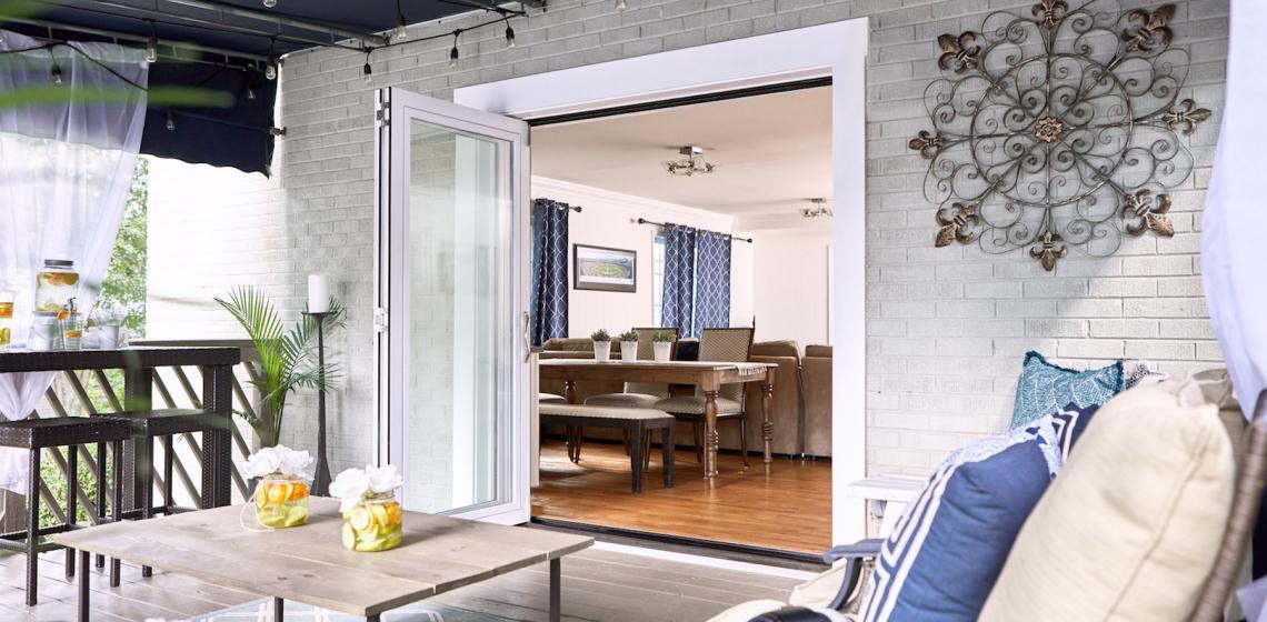 Jeld Wen F-2500 Folding Patio Door exterior open