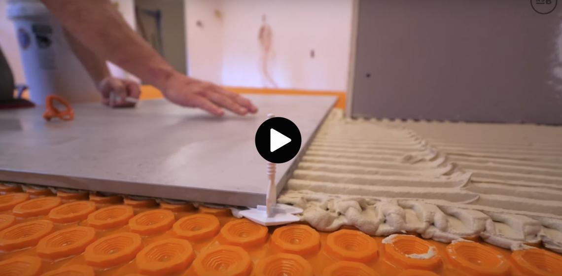 NSB Large Format tile kitchen ditra-mat