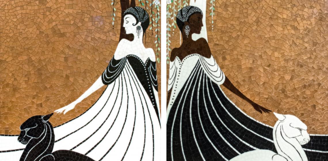 New Ravenna La Panthère Custom Mosaic Panels