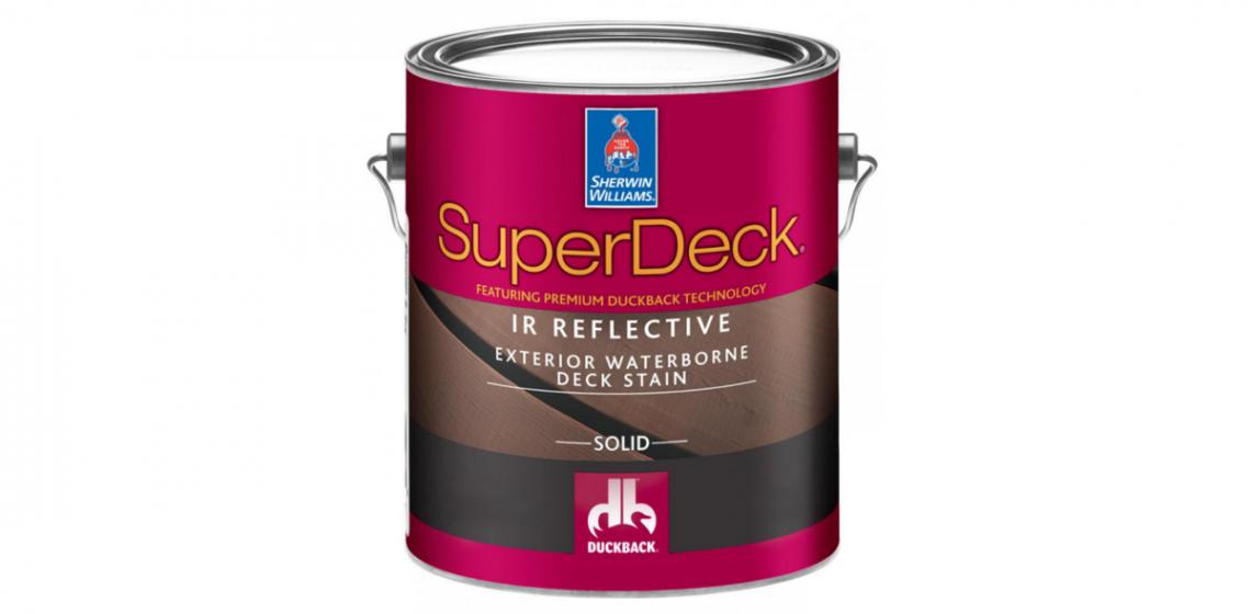Sherwin Williams super deck can lowers deck temperature