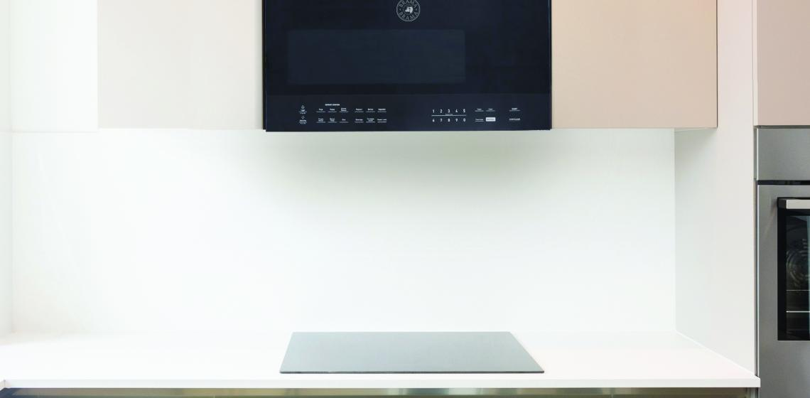 Vinotem Brama 30inch Over Range Microwave Oven Installed