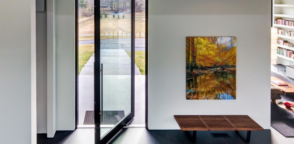 Western Window Systems Pivot Series 7000 Door Open