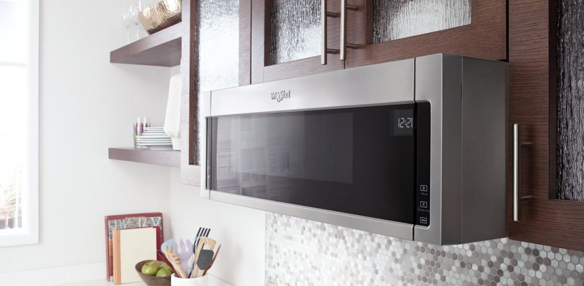 Whirlpool 1.1 cu ft Low Profile Microwave Hood Combination