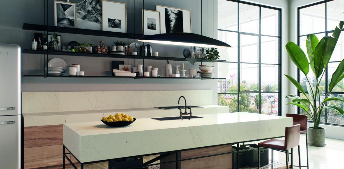 aterra blanca caesarstone quartz counter
