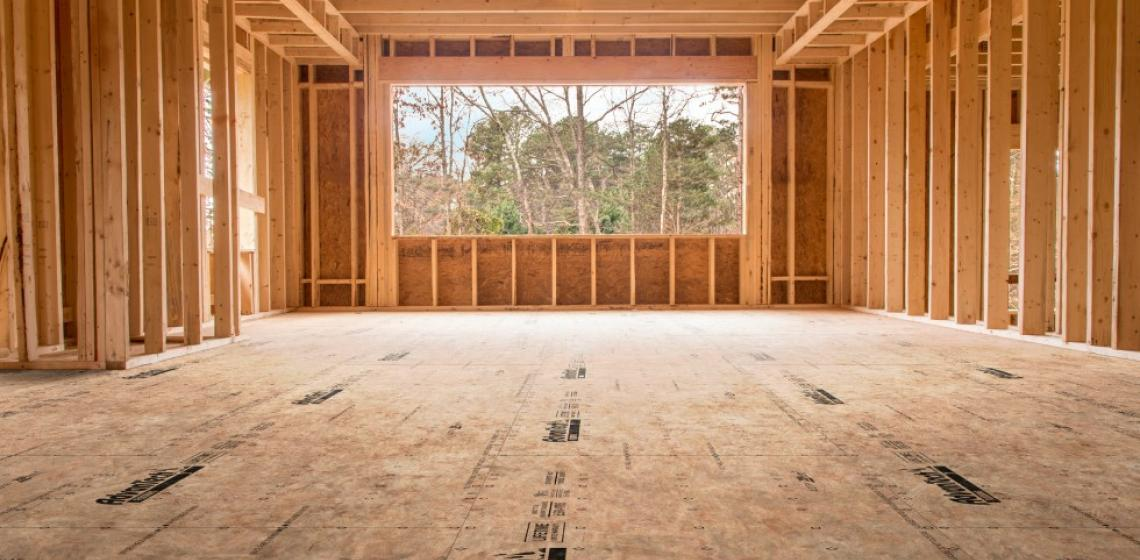 3 Huber Advan Tech Jobsite subfloor deck with large window
