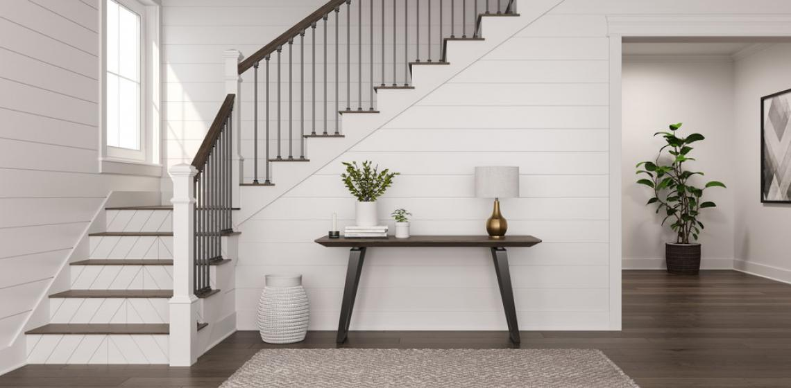 Farmhouse shiplap stair riser