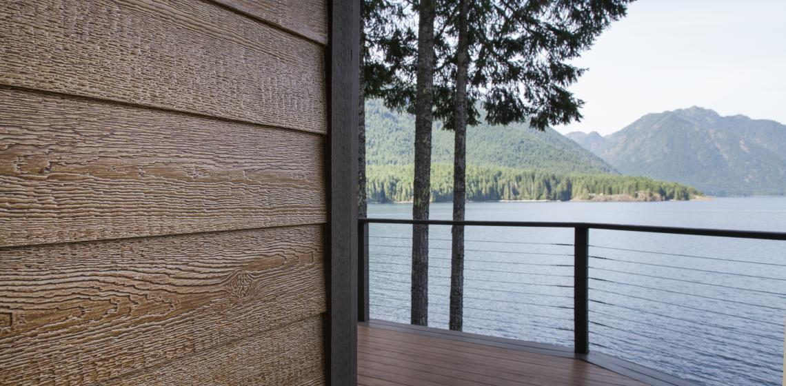 LP Trim on a lake house