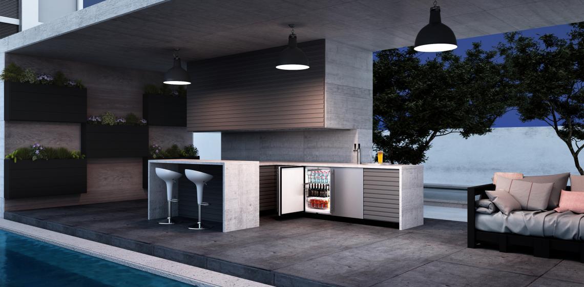 U-Line outdoor freezer refrigerator