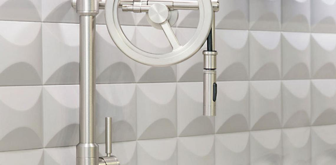 Waterstone Endeavor Wheel Pulldown Kitchen Faucet