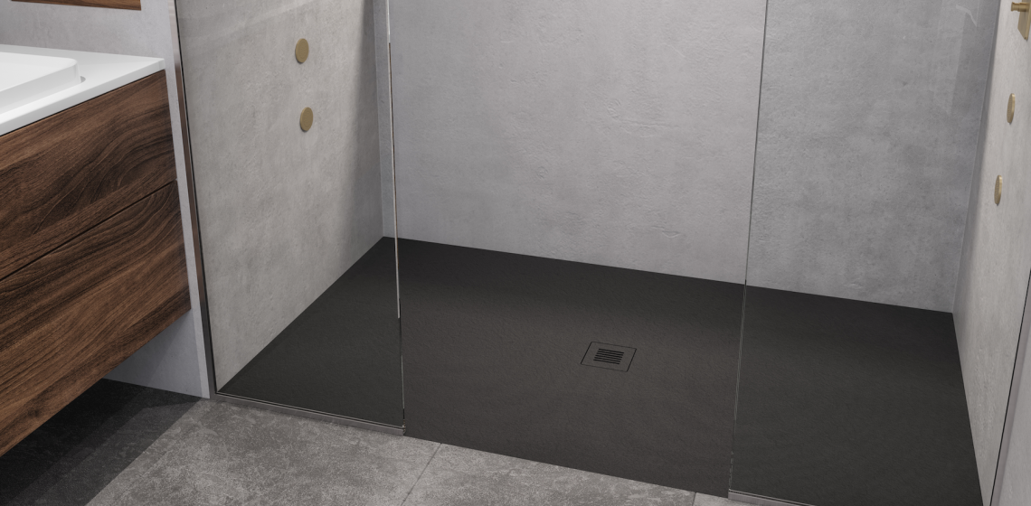 Westyle Feel Shower base black bathroom
