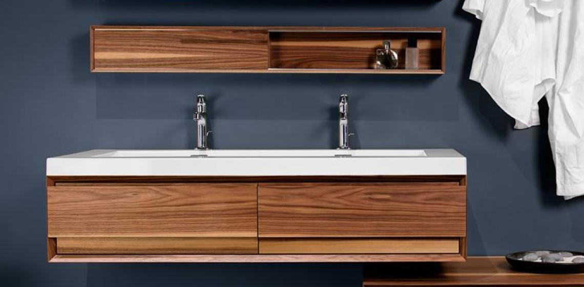 Wetstyle Wood Wall hung vanity floating bathroom vanity