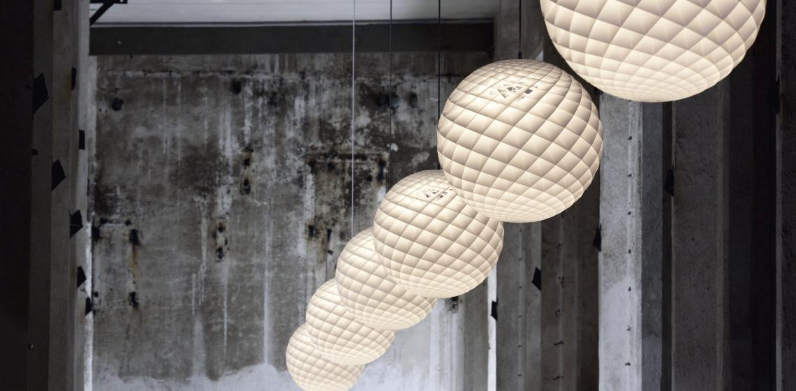 Louis Poulsen Patera pendants warehouse installation