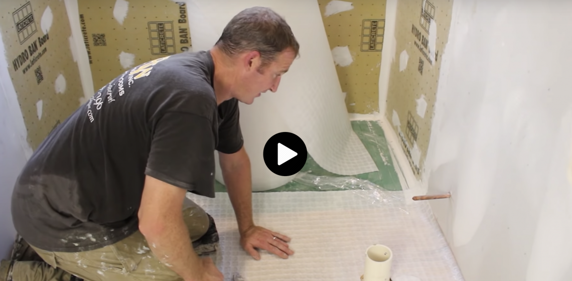 How to build curbless shower