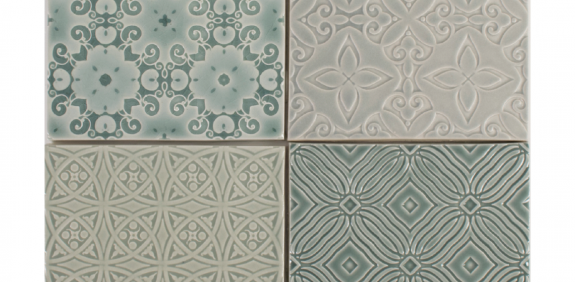 Pratt and Larson embossed ceramic tile