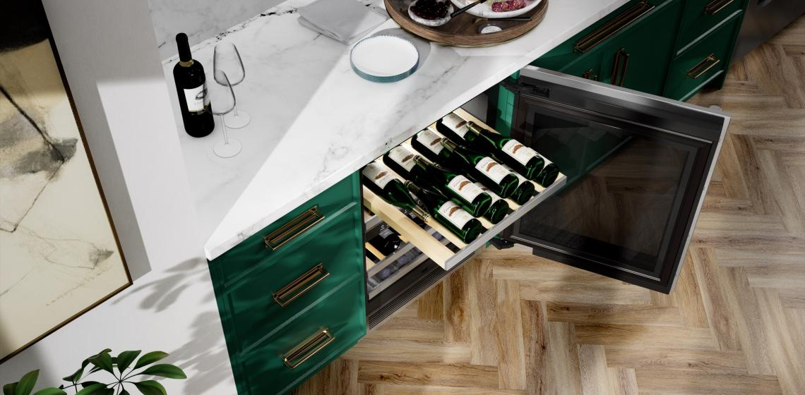 signature kitchen suite wine fridge