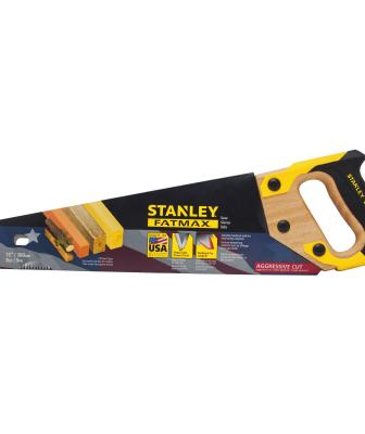 The FatMax 15-inch handsaw features SharpTooth technology for 50 percent faster cutting versus the company's conventional saws. The induction-hardened teeth stay sharp up to five times longer than standard teeth, the manufacturer says, and the thick, ergonomically designed handle helps reduce slipping.