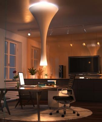 Concepticon Studio has created an innovative smart chandelier that interacts with a smartphone, senses a homeowner's needs, evaluates contextual conditions and adjusts its shape and function automatically.