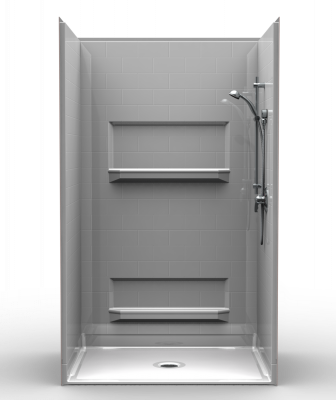Designed as a replacement for traditional tubs, the manufacturer's new shower is ideal for showers. Offered in 48 inches by 36 inches, the universal design shower features a subway tile look and is designed with wood-backed walls so grab bars can be added. Units are custom made when ordered and shipped within as little as three business days.