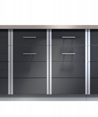 Kalamazoo Arcadia outdoor cabinets in powder coated stainless steel