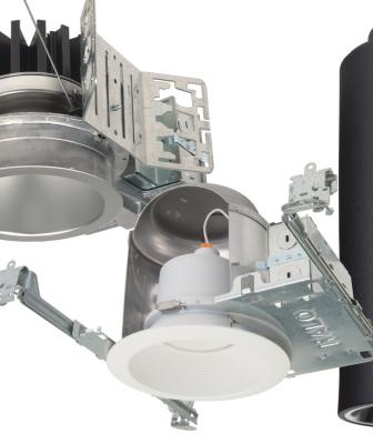 The manufacturer has added Dim-to-Warm technology to its Portfolio and Halo LED recessed downlighting product lines. Designed to perform comparably to halogen sources when dimmed, it goes from a warm 1850K resembling candlelight to a whiter 3000K color temperature. It's available as an option for the Portfolio 4- and 6-inch round and square LED downlights and the 6-inch LED cylinder as well as the Halo ML56 LED product line.
