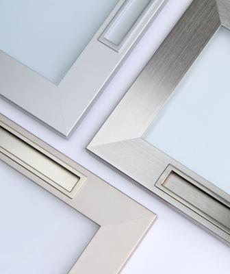 Element Designs recessed pulls for aluminum doors