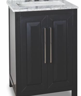 Jeffrey-Alexander-Cade-Contempo 24 inch vanites for small bathroom in black