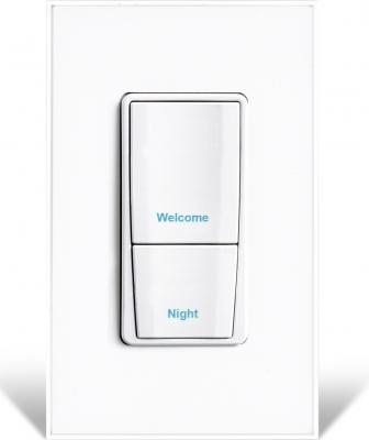 The new two-button, programmable Vantage RadioLink EasyTouch II keypad gives homeowners wireless, full-scene control. Additional features include laser-engraved button text with adjustable backlighting, multi-event programming, hidden ambient light and IR sensors, and custom color options to mix or match trims, buttons, and faceplates.
