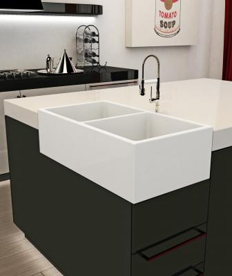 Ruvati Apron front corner Fiamma SINK 33 inch modern white