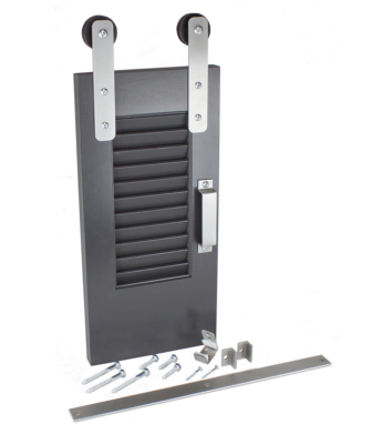 Shutter Series barn door hardware from Goldberg Brothers