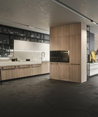Venerable luxury Italian cabinet brand Snaidero has unveiled two new kitchen lines—one targeted at consumers with mature tastes and another for those with a penchant for edgy designs.