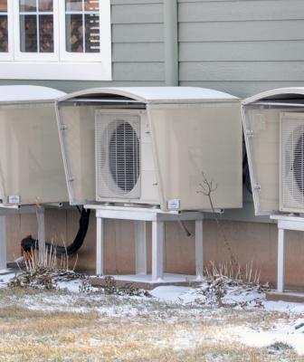 SnowShield HVAC weather shelter
