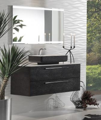 Topex Design has updated its recently introduced Armadi Art Acqua Collection with a new option that includes faux crocodile leather surfacing for the vanities and sinks.