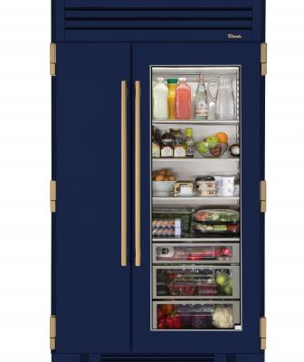 True Refrigeration 48 inch fridge with glass door cobalt Blue