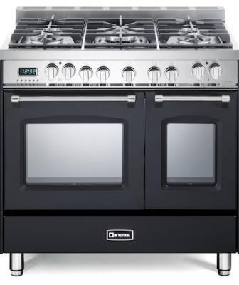 Verona Prestige 36 inch range with Double Oven Black Front