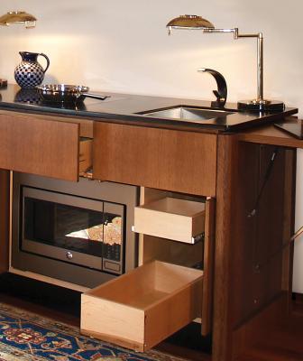 YesterTec hidden kitchen