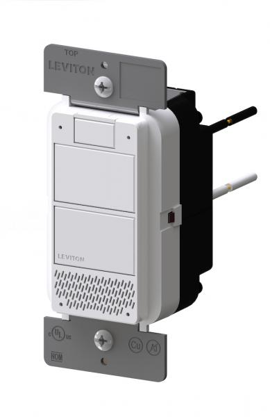 Leviton Decora Voice controlled Dimmer angle