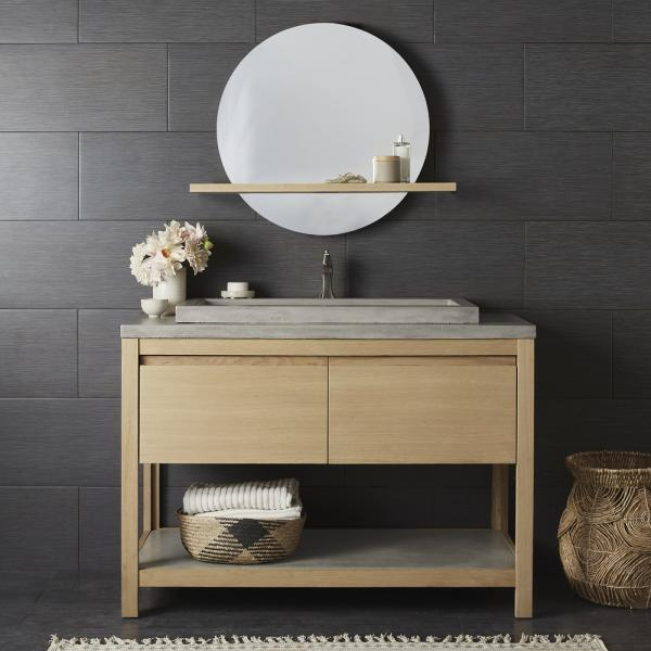 5 Native Trails 48 inch Solace Vanity Sunrise Oak with Trough