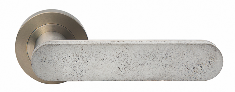 Designer Doorware Bullet and Stone Collection Concrete Club Handle