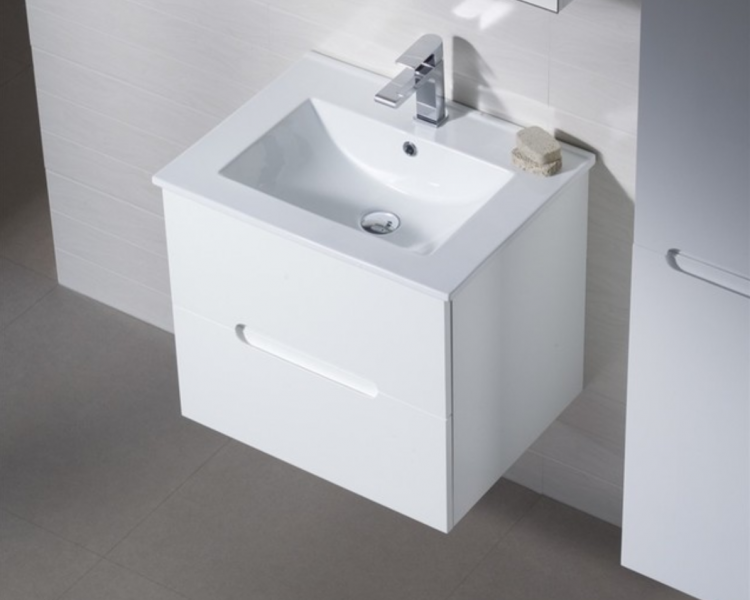 Elton Wall Mount Bath Vanity With Porcelain top