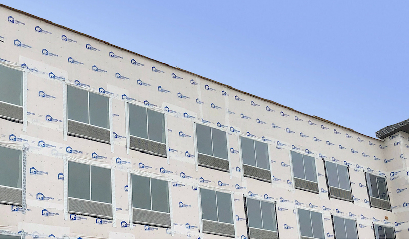 6 Barricade Building Products House Wrap On multifamily development