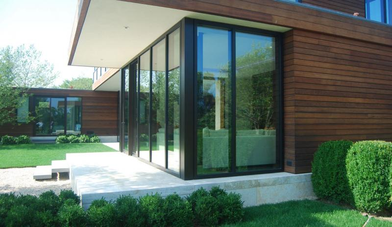 Arcadia Custom aluminum steel window Wall on modern home
