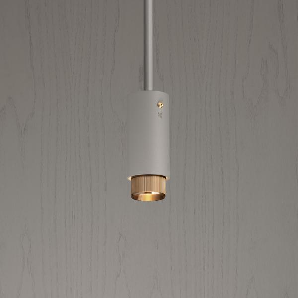 Buster+Punch Exhaust Pendant Stone Brass