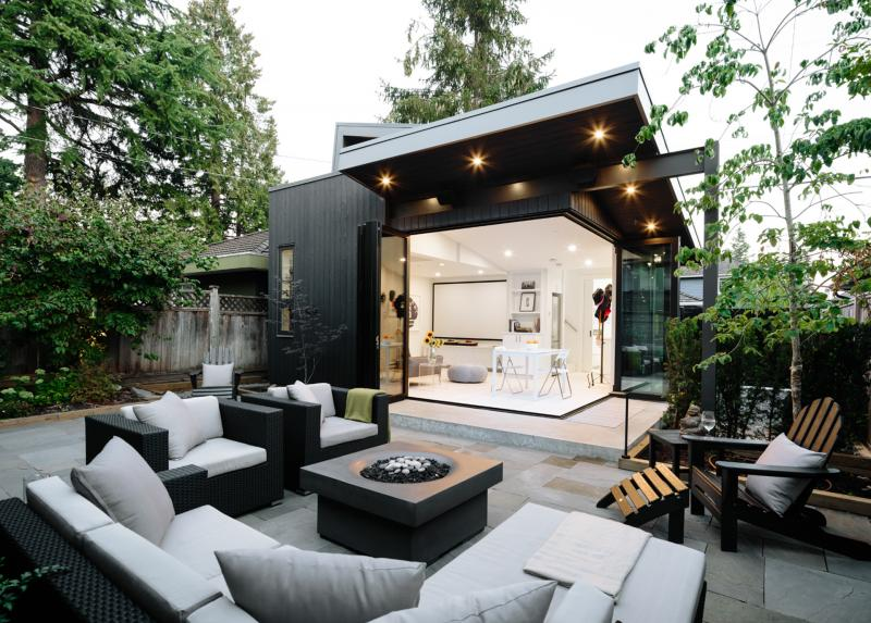 Nakamoto Forest Laneway House Exterior Patio Alex Glegg Design