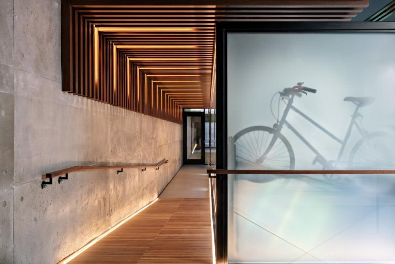 Charlie West Condo Lemay Escobar Architecture Bike Room