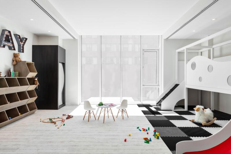 Charlie West Condo Lemay Escobar Architecture Childrens' Playroom