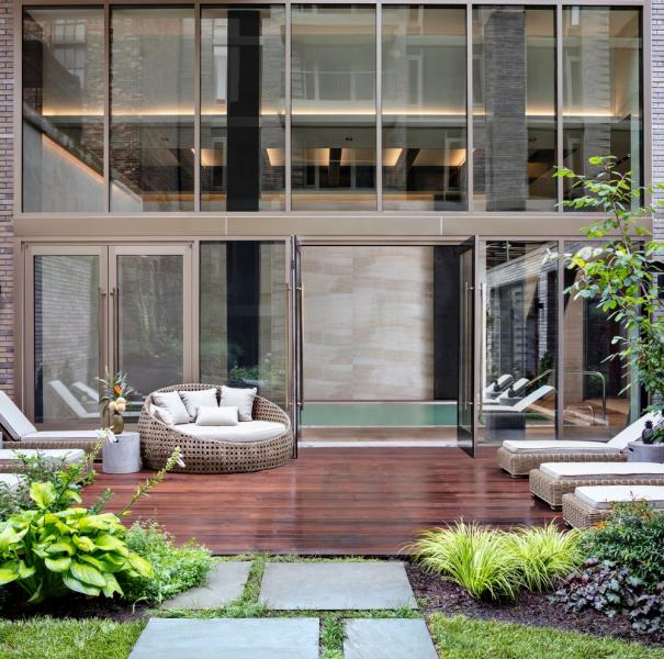 Charlie West Condo Lemay Escobar Architecture Landscaped Courtyard