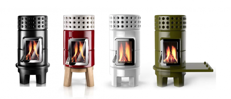 Wittus Stack Wood Stove four colors